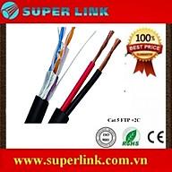 Cáp mạng kèm dây nguồn Superlink Cat 5 FTP +2C - Hàng chính hãng thumbnail