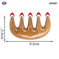 Lược gỗ Bách Xanh 5 răng massa đầu - COH251 (Size S -10cm) giúp lưu thông khí huyết đả thông kinh mạch thumbnail