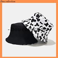 Mũ Nón Bucket Vành Ngắn Hai Mặt Họa Tiết Bò Sữa Thời Trang Thu Đông - Mã NV012 thumbnail