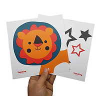 Bộ 6 thẻ Flash card kích thích thị giác giáo dục sớm cho bé chuẩn phương pháp Glenn Doman thumbnail