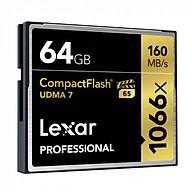Thẻ Nhớ Lexar CF 64GB Professional 1066x (160 Mb s) - Hàng chính hãng thumbnail