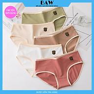 Bộ 5 Quần Lót Cotton dễ thương mềm mại tôn dáng, Hàng xuất nhập thương hiệu Baw mẫu QLN01 thumbnail