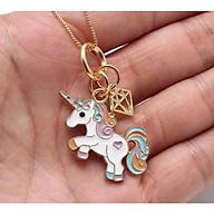 Vòng cổ cho bé mặt dây chuyền Unicorn chất liệu hợp kim mạ vàng siêu xinh thumbnail