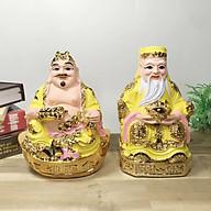 Bộ 2 tượng Thần Tài Thổ Địa áo vàng cao nhiều cỡ thumbnail