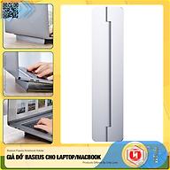 Giá đỡ gấp gọn hợp kim nhôm dùng cho Laptop Macbook - Đế tản nhiệt dạng xếp, siêu mỏng Baseus Papery Notebook Holder (0.3cm slim, 8 Angle, Foldable, Portable Alloy Laptop Stand)-Hàng Nhập Khẩu thumbnail