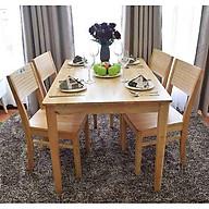 Bộ bàn ăn cherry 4 ghế (tự nhiên) thumbnail