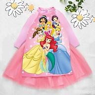 Áo dài cách tân cho bé gái hình Pony- công chúa từ 12-42kg. Vải phi lụa, chân váy ren có lót bên trong. thumbnail