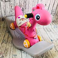 Ngựa Bập Bênh Bánh Xe 2 IN 1 có đèn, nhạc, có bánh xe, có thể tháo rời thumbnail