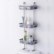 Kệ để đồ 3 tầng nhà tắm, nhà bếp đa năng không cần khoan đục tường cao cấp GS00748 thumbnail