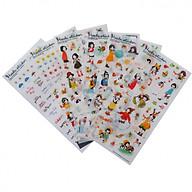 Bộ 6 tấm sticker trang trí Heeda thumbnail