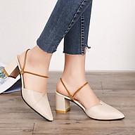 Giày xăng đan nữ gót vuông 8 phân thon gọn, ôm vừa chân ( TẶNG BỘ 6 CON BƯỚM DẠ QUANG PHÁT SÁNG ) thumbnail