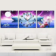 Tranh treo tường, tranh đồng hồ NT102 bộ 3 tấm ghép thumbnail