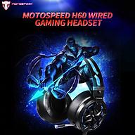 Tai nghe chơi game có dây Motospeed H60 Tai nghe hiệu ứng âm thanh ảo 3D 7.1 kênh với bộ phận điều khiển 50mm Micrô giảm tiếng ồn thumbnail