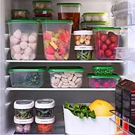 17 hộp nhựa an toàn có nắp đựng thực phẩm để tủ lạnh thumbnail