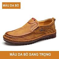 Giày lười da thật, giày gân bò, giày đậu Hà Lan, dày thanh niên trẻ trung giày da thật phong cách Anh Quốc năm 2021 mã T26016 thumbnail