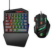 35 Buttons Gaming Keyboard Mechanical Keyboard and Mouse Kit Backlight Gaming Key-Pad Mouse Set Mobile Phones Game thumbnail