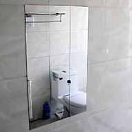 Giấy dán tường kiểu gương trang trí hoặc làm gương soi kích thước 1 tấm 15 cm x 15 cm dày 1 mm thumbnail