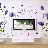 decal dán tường hoa bách hợp tím sk9122 thumbnail