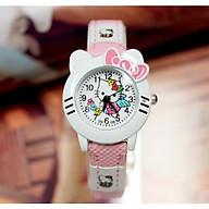 Đồng hồ hình hello kitty cho bé gái - kitty1vang thumbnail