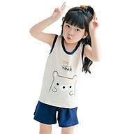 Bộ đồ cho bé gái hình thú chất liệu thun cotton tháng mát 105-Gái thumbnail