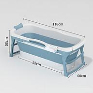 Bồn tắm silicon gấp gọn cho cả người lớn và trẻ em loại 1m18 - chậu tắm gấp gọn tiết kiệm không gian thumbnail