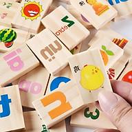 Bộ đồ chơi thả hình bằng gỗ phân loại theo chủ đề giúp bé tư duy logic và phân biệt màu sắc, game thả hình khối hỗ trợ phát triển trí tuệ trẻ em Tặng Kèm Móc Khóa. thumbnail