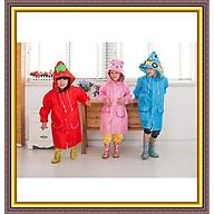 Áo mưa trẻ em, áo mưa hình thú ngộ nghĩnh đáng yêu chất liệu an toàn tránh mưa cực tốt, có thể gấp gọn cất vào cặp sách thumbnail