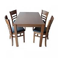 Bộ bàn ăn CABIN 4 ghế (nâu nhạt) thumbnail