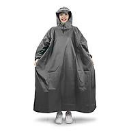 Áo mưa bít người vải dù tổ ong cao cấp freesize - Xám thumbnail
