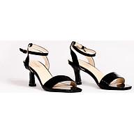 Sandal tiểu thư gót mica quai mảnh da bóng V015101 thumbnail