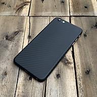 Ốp lưng siêu mỏng, vân carbon dành cho iPhone 6 iPhone 6S - Màu đen thumbnail