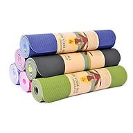 Thảm Yoga 2 Mặt Cao Cấp (173cm x 61cm x 6mm) tă ng kem 1 khăn gô i đâ u ha n quô c ( giao ma u ngâ u nhiên ) thumbnail