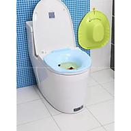 Chậu xông hơi vệ sinh phụ nữ có vòi xịt để vừa bồn cầu toilet. Shop giao mầu ngẫu nhiên thumbnail
