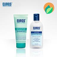 Dầu gội cho da đầu nhạy cảm EUBOS 150ml + Sữa tắm không kiềm không mùi EUBOS 200ml thumbnail