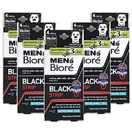 Combo 5 Hộp Miếng Dán Mũi Lột Mụn Than Hoạt Tính Men s Biore Pore Pack Black Strip (1 hộp 4 miếng x 5) thumbnail