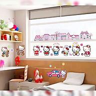 Decal dán tường trang trí phòng ngủ, lớp mầm non- Kitty thành phố- mã sp DDF9908 thumbnail