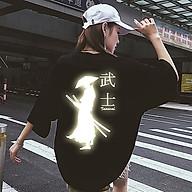 Áo Thun Nam_ Nữ Phản Quang In hình KIẾM KHÁCH , áo chất, đi đêm, đi phượt bao ngầu, nhìn đã mắt thumbnail