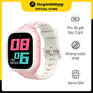 Đồng hồ định vị trẻ em 4G Kidcare S6 Hồng - Hàng chính hãng thumbnail