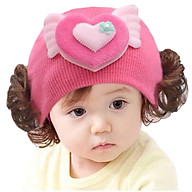 Mũ len tóc giả ngắn cho bé thumbnail