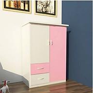 Tủ nhựa Đài Loan 2 cánh 2 ngăn T213 màu hồng thumbnail