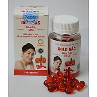 dầu gấc (thực phẩm chức năng gold gấc có bổ sung DHA hộp 100 viên nang mềm) thumbnail
