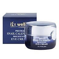 Kem Dưỡng Làm Mờ Nếp Nhăn Vùng Mắt Từ Ốc Sên & Calendula It s Well Plus Snail Calendula Prestige Brightening Eye Cream CPEC (30g) thumbnail