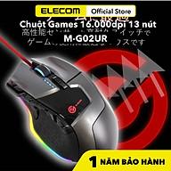 Chuột Gaming 16.000DPI 13 nút Elecom M-G02UR Hàng Chính Hãng-BẢO HÀNH 12 THÁNG thumbnail