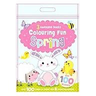 Sách tô màu 3 Awesome Books Colouring Fun Spring thumbnail