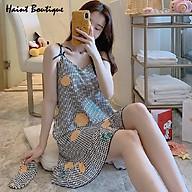 Đầm mặc nhà 2 dây Haint Boutique thiết kế đuôi cá kẻ nhỏ trẻ trung Vn07 thumbnail