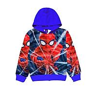 Áo khoác bé trai hình siêu nhân nhện 9-43kg. Chất thun da cá hút mồ hôi- Hình in 3D- Bonchop. thumbnail