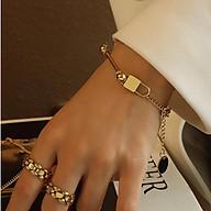 Bộ vòng cổ và vòng tay móc khóa cá tính chất liệu titan Mee Store meestore.accessories thumbnail