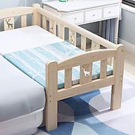 Giường cũi cho trẻ em quây 3 mặt ghép giường cha mẹ size 128 60 40cm chất liệu gỗ thông thumbnail