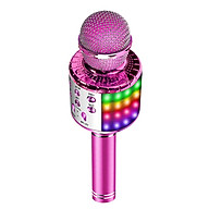 Portable Wirelessly BT Microphone with controllable LEDs Lights 3 in 1 Multifunctional Handheld KTV Mic Speaker Machine thumbnail