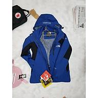 Áo khoác du lịch phượt chống nước,hàng cao cấp màu xanh thumbnail